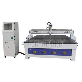 Vacuum table AKM2030 woodworking cnc router machine for solid wooden cabinet door