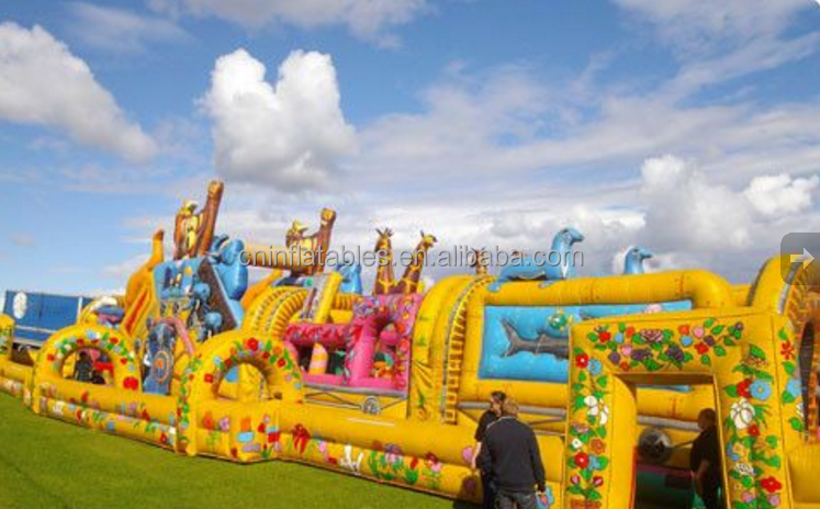 Inflatable Zoo Train/large inflatable park games