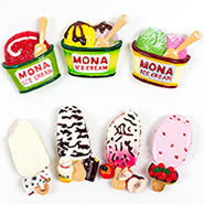 Wholesale Custom Resin 3D Bread Desert Food Fridge Magnet For Home Decor
