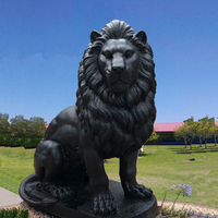 Top design outdoor garden resin life size lion statue for sale
