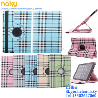 For Apple iPad 234 England Grid Colour NEW 360 Degree Rotating PU Leather Case Cover Swivel Stand