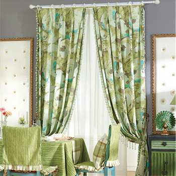 Modern Floral Print Drapery Living Room Curtains Draps Green Blackout  Curtains Designs - Buy Modern Curtains,Designs Curtain,Blackout Curtains  Product ...