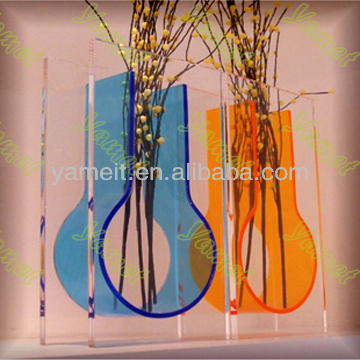 Wall mounted acrylic customized vase for home decoration
