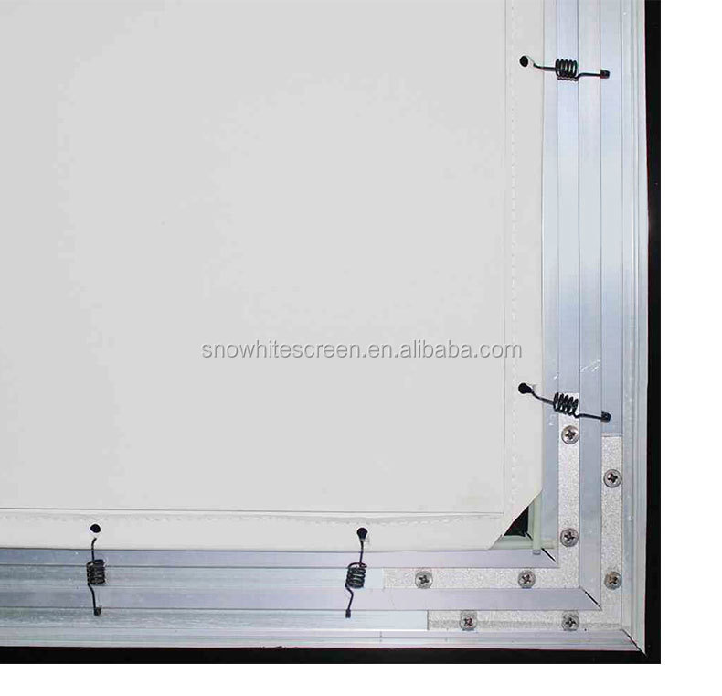 "SNOWHITE 100"" 16:9 Format SM100CFH-C(V) Luxurious Long Focus Fixed Frame Ambient Light Rejection Projection Screen"