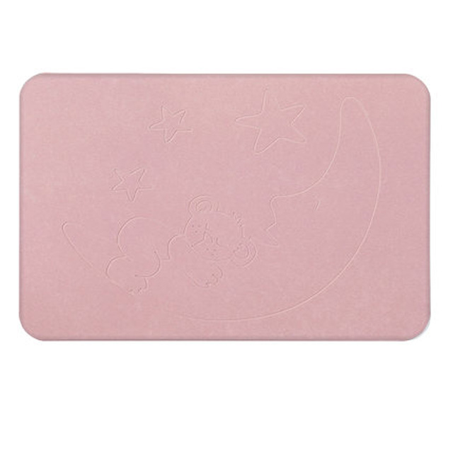Thin Anti-Slip Diatomaceous Bath Mat Durable Reuse Diatomite Bathroom Mat