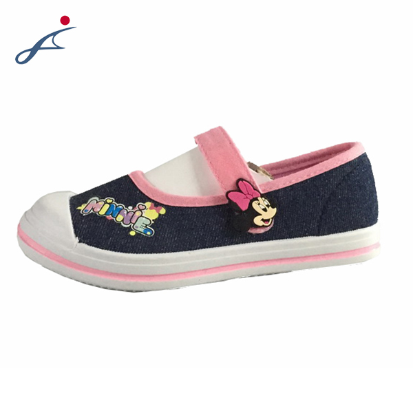 Newest sweet style girl shoes flat with follower