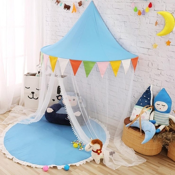 Kids Bed Canopy Indoor Princess Rainbow Half Moon Play Tent For Reading Area & Kids Bed Canopy Indoor Princess Rainbow Half Moon Play Tent For ...