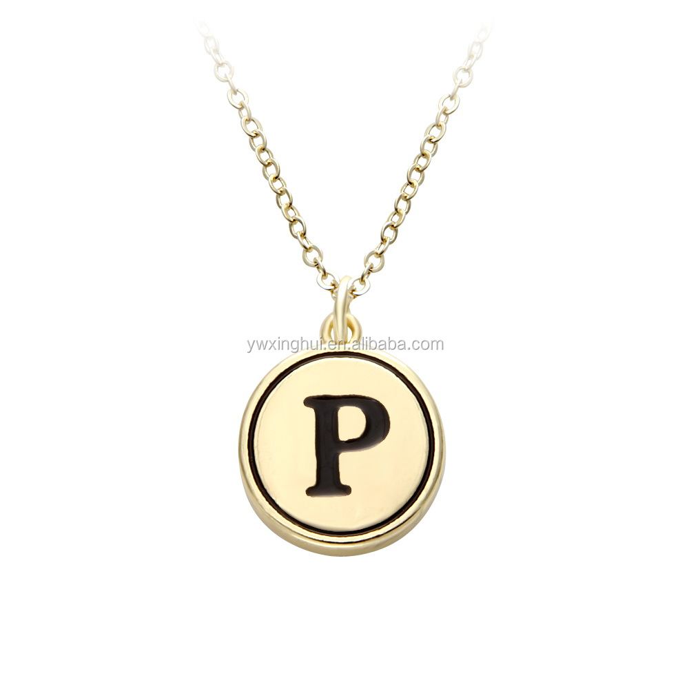 Hot sale 2017 OEM Locket initial Necklace with twinkling color