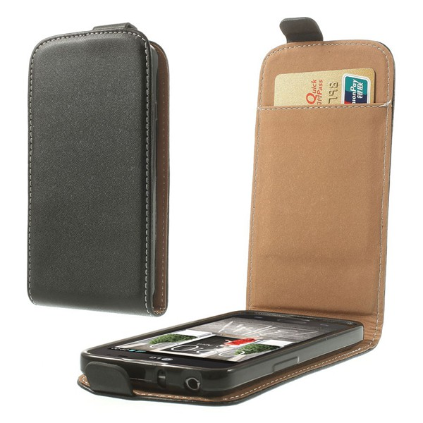 2015 New High Quality Black PU Leather Vertical Flip Case for LG L70 D320 D320N With Card Slot