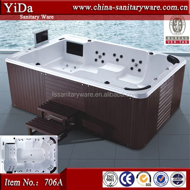 Biggest Outdoor Spa Bathtub For 10 Person,Wood Tub Skirt Adult ...