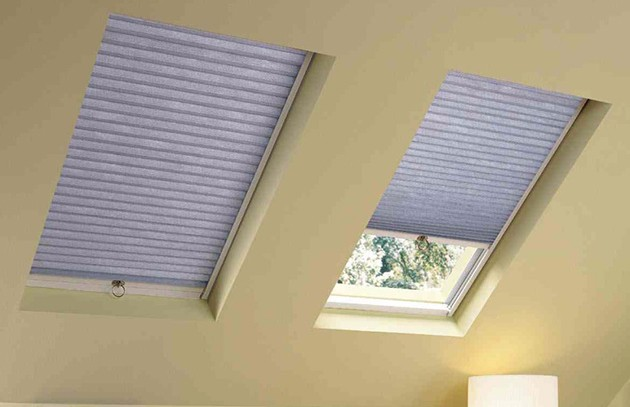 Rraj remote control honeycomb roof blinds for skylight for Skylight with remote control