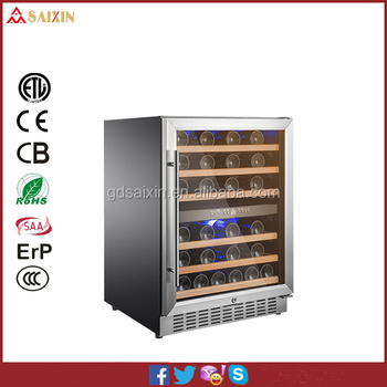 Humidity Control Red Wine fridge /Refrigerator with 7 pcs Beech Shelves and  loaded with 52