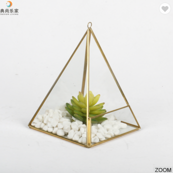 Air Plant Clear Glass Pot Hanging Square Pyramid Geometric Terrarium
