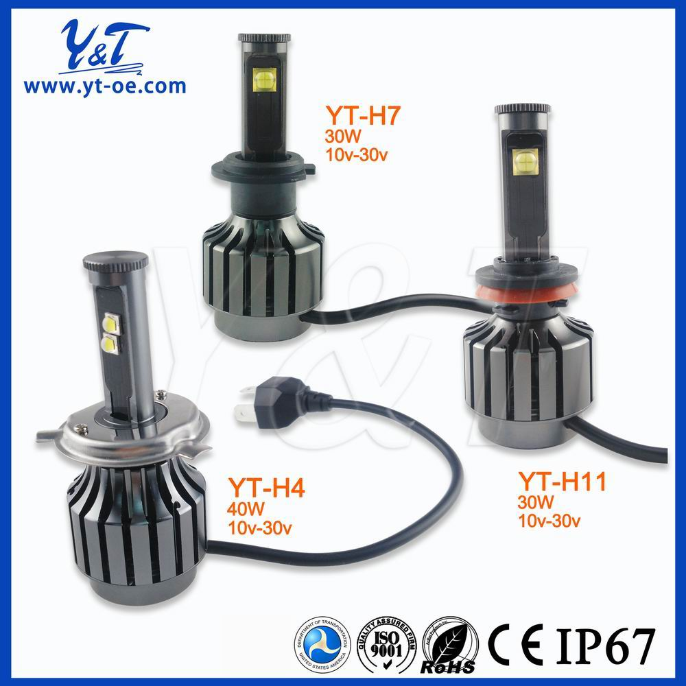 Y&T 5 inch Square BMC Semi sealed beam with Hood Auto headlight install H4 or H4 led led Bulb