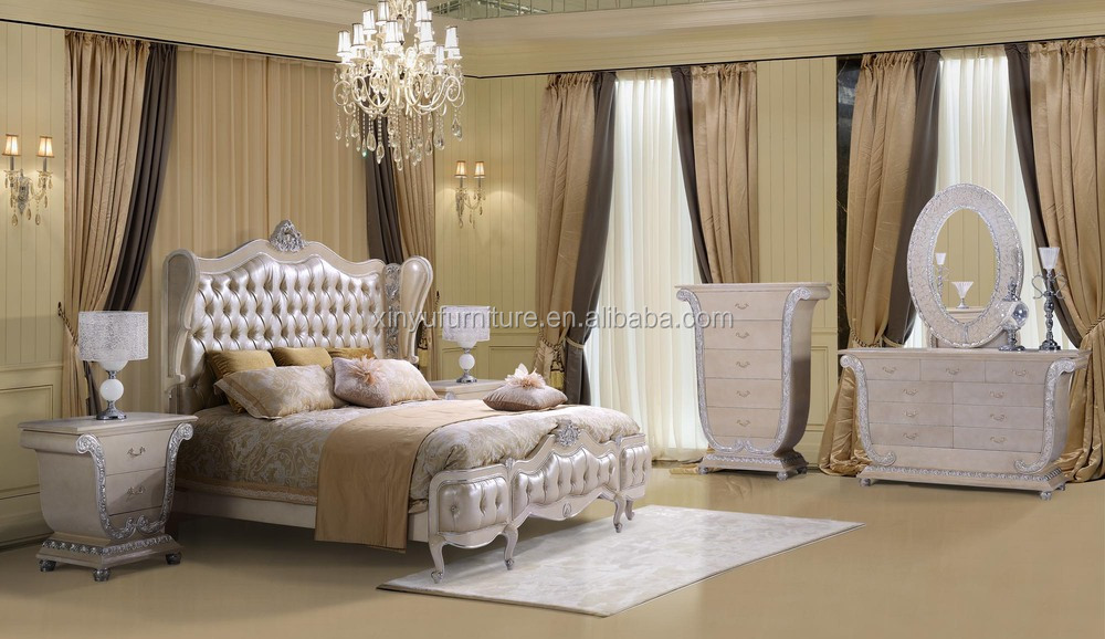 China Factory New Classical Luxurious Bedroom Furniture Xyn480 ...