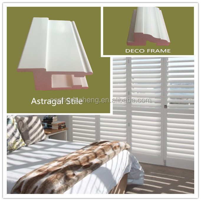 Plastic PVC Louver Indoor Plantation Shutters Window From China