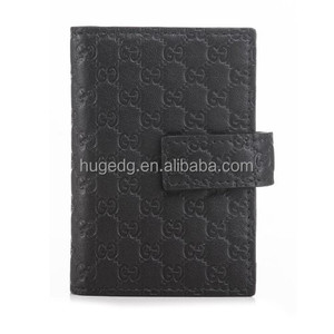 Synthetic leather blind debossed logo personal ID name card pouch