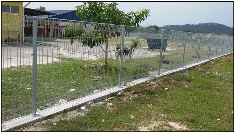 Brc Weld Mesh Panel Fence / Roll Top Decorative Wire Fence - Buy Brc ...