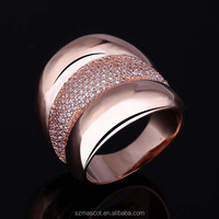 Rose Gold Plated 3A Zircon Jewellery Cheap Rings