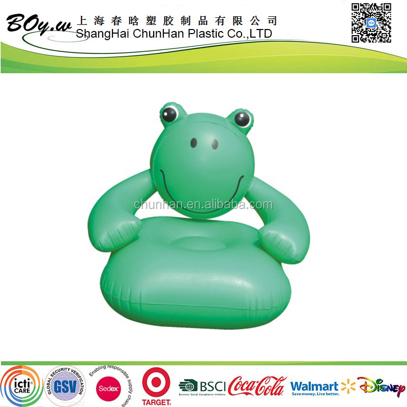 target supplier frog pvc animal kids inflatable sofa