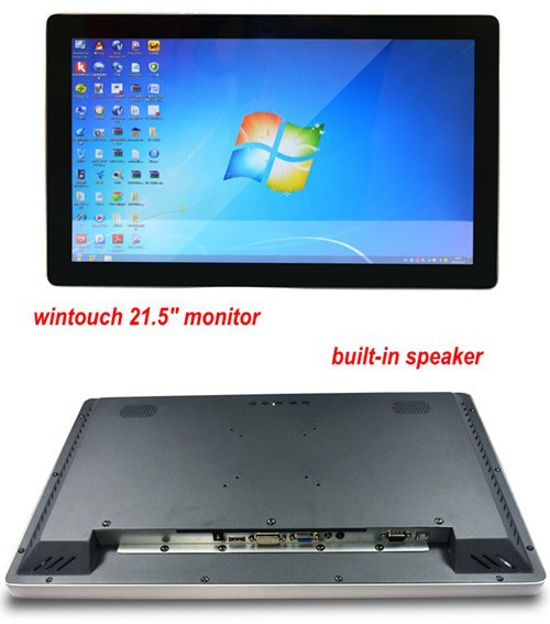 "21.5"" capacitive touch screen monitor with IPS screen sun readable vandal proof galss"