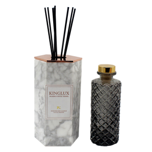 Kinglux 200ml Hexagon Shape Reed Diffuser Marble Holder