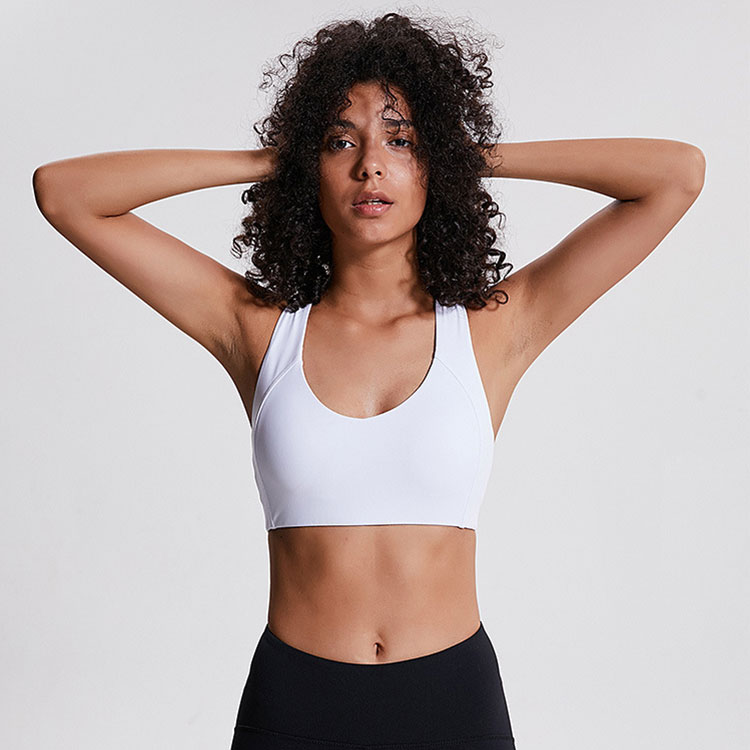 Breathable Sports Bra Women Yoga Fitness Top Plus Size Activewear Sports Bra Top Crossback Medium Support Sports Bra Top фото