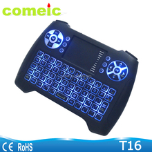 Air Keyboard Mouse with Backlit key T16 for smart tv pc computer mini pc Touchpad keyboard