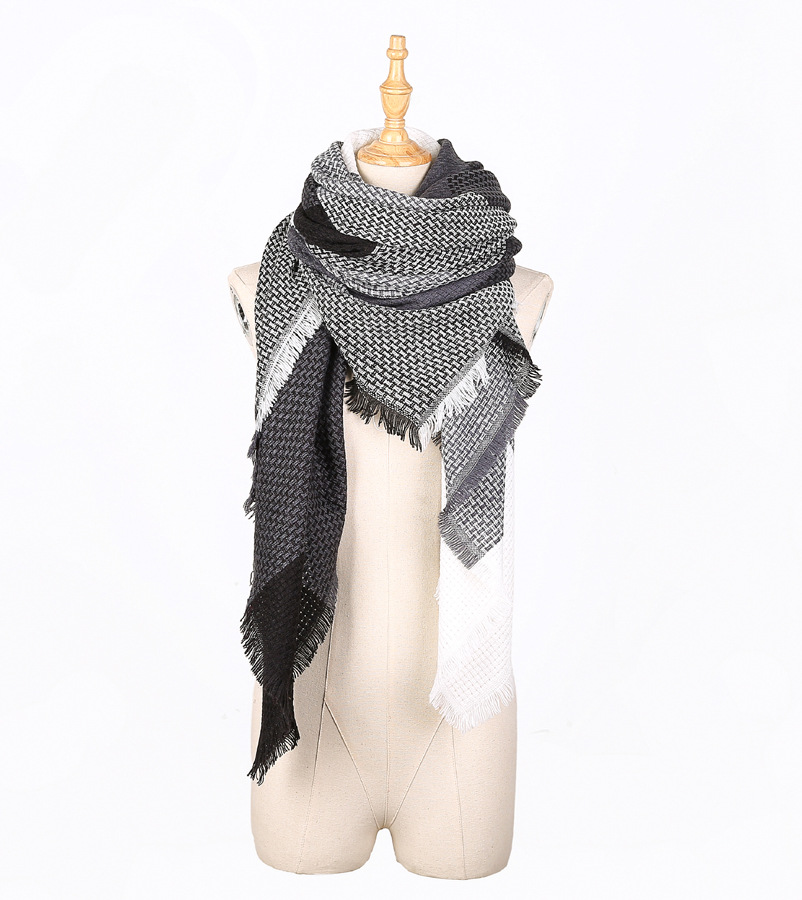 High quality durable using various plain big wool winter women scarf