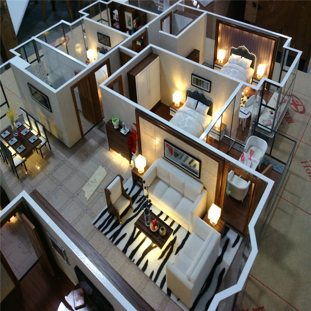 Architectural scale model maker of house interior layout for 3d building creator