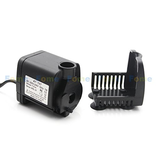 FOME 110V 7W Head of 1 metersThe micro submersible pump submersible pump AT-707 aquarium garden crafts with US standard + FOME GIFT