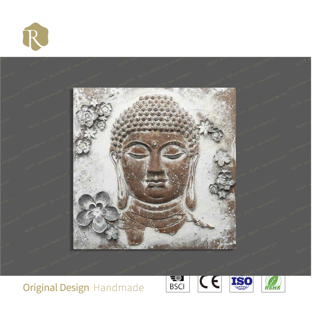 relife outlet 3D art oil painting indian hot acrylic buddha painting