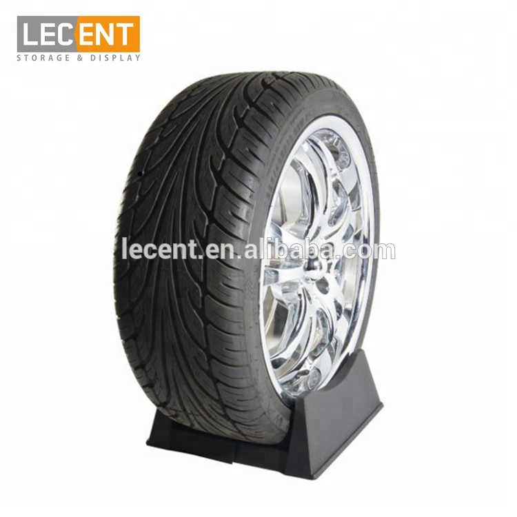Lecent Plastic Portable Tyre Rack Holder Tire Display Stand