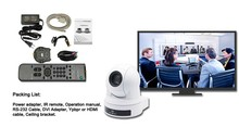 Horizontal View Angle 72.5 Conference Zoom 12X DVI Camera For Video Streaming