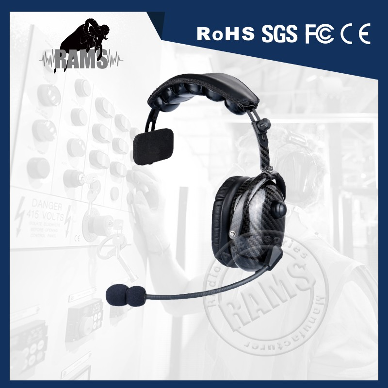 100% Real Carbon Fiber Single Ear Muff Headset with Ultra Comfortable Faux Leather Cushions