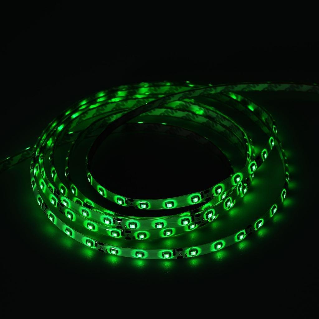 LQZ Non-Waterproof 600 LED 3528 SMD Flexible LED Light Lamp Strip (12V) - Green Color