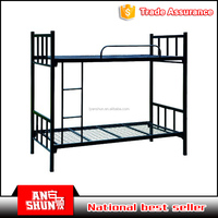 Metal Material and dormitory Furniture General Use Knock down steel 2 sleeper bunk bed