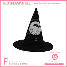 Party city white bat pattern in the dark night decorated witch hat for festival