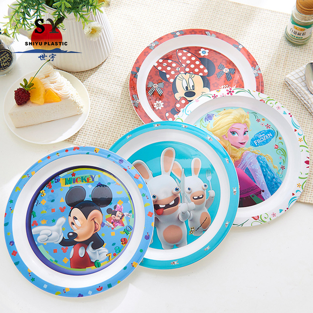2017 promotional food grade cheap reusable custom logo plastic cartoon plate and bowl for food  sc 1 st  Alibaba & China Customized Plates And Bowls Wholesale ?? - Alibaba