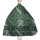 High Quality Green Plastic Barber Hair Cape Salon Hairdressing Hair Cutting Cape Pattern