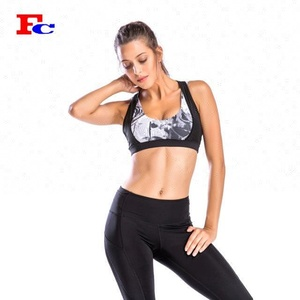 High Impact Women Plus Size Custom Mesh Sports Bra Wholesale