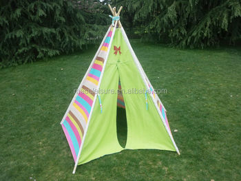 kids canvas teepee tent tipi tent wigwam : pop up teepee tent - memphite.com