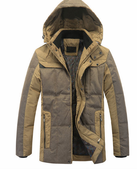 D51620J 2014 European style winter men's thicken cotton coat down jacket