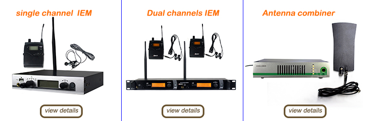 Stage monitoring IEM Earphone Wireless In ear monitor system