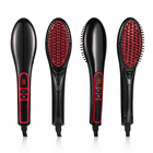 ionic electric heated hair straightener comb brush with lcd display