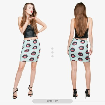 Lastest Fashion Sexy Girls Fancy Crop Top And Skirt