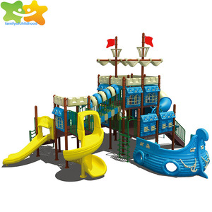 Pirate Ship Stainless steel outdoor playgrounds slides for sale