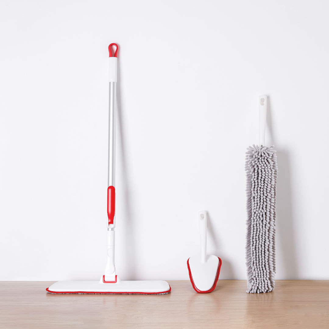 3 in 1 house hold mop scrubber duster floor flat mop cleaning mop set