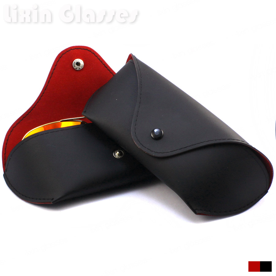 Last New Hot Sale Sunglasses Storage Compression Eye Glasses Hard Case Box black Red Color 170*70*40mm Case004
