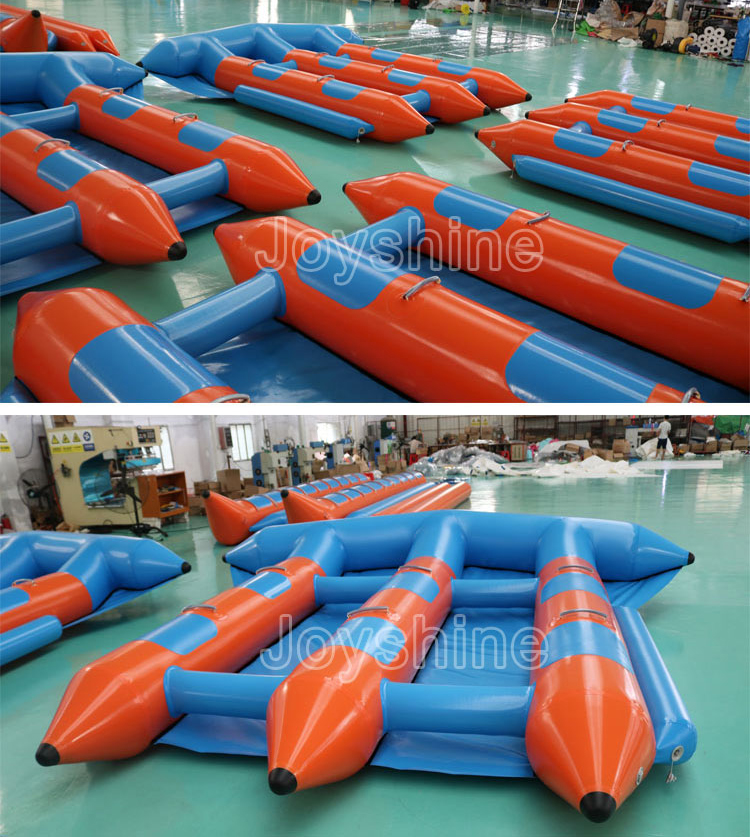 Custom Size n Color Inflatable Fly Fish Water Sports Tube Sea Flying Boat Towable Flyfish Banana Boat For Sale